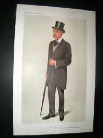 Vanity Fair Print: 1909 James Campbell Caricature